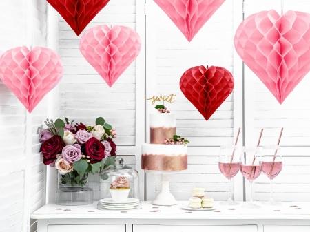 Inima roz suspendata, diametru 30cm0