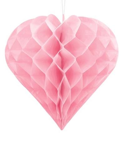 Inima roz suspendata, diametru 30cm1