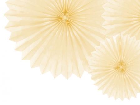 Evantaie decorative, crem deschis, 20-40cm2
