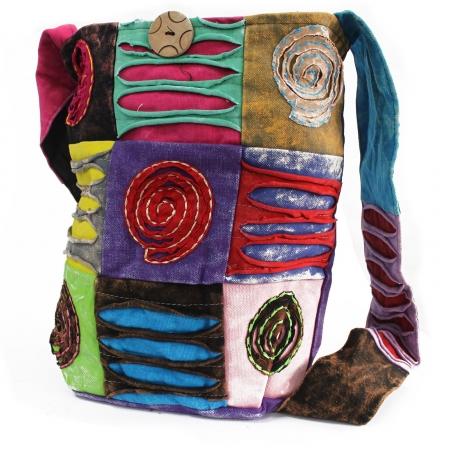Geanta motiv etnic model spirala, handmade India0