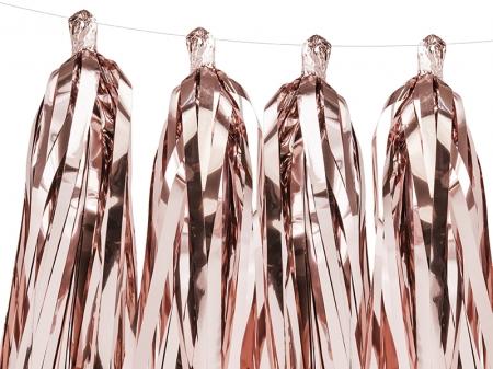 Ghirlanda ciucuri roz auriu, 12 ciucuri, 1.5 m lungime5