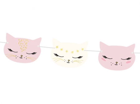 Ghirlanda pisicute, aniversare fetite, mix, 1.4m1
