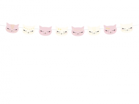 Ghirlanda pisicute, aniversare fetite, mix, 1.4m5