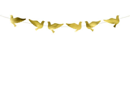 Ghirlanda porumbei carton auriu [8]