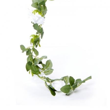 Ghirlanda trandafiri albi (1.75m)1
