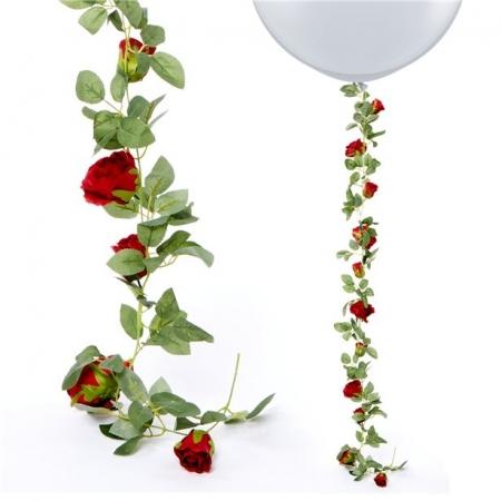 Ghirlanda trandafiri rosii (1.75m)0