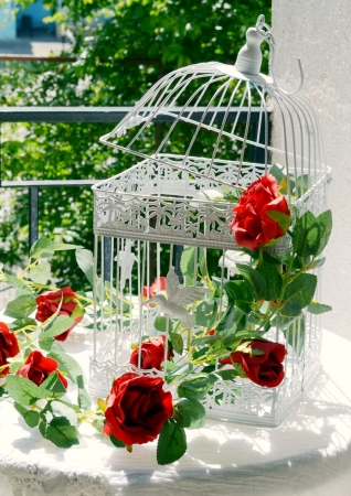 Ghirlanda trandafiri rosii (1.75m)4