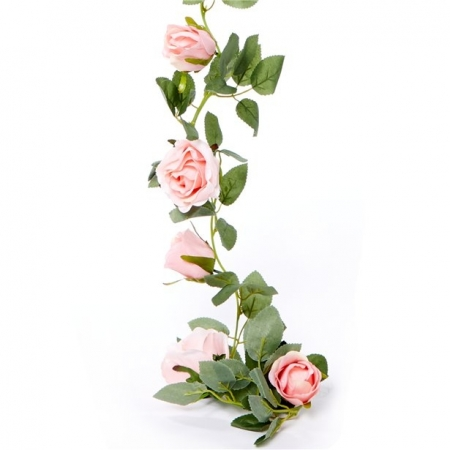 Ghirlanda trandafiri roz (1.75m)1