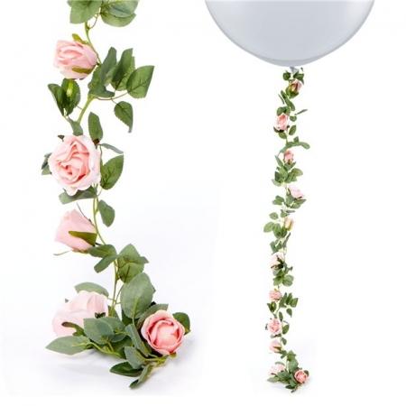 Ghirlanda trandafiri roz (1.75m)0