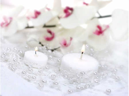 Ghirlande perla albe 1.3m1