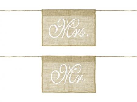 Indicatoare scaun miri Mr&Mrs (1 pach/2buc)1