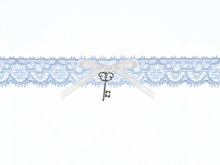 Jartiera dantela bleu cu pandativ cheita0