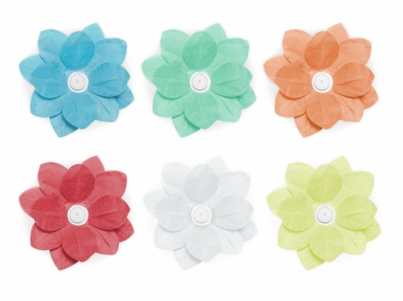 Set Lanterne plutitoare lotus, mix de culori, 29cm (1 pach/6 buc)12