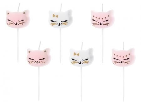 Lumanarele zi de nastere Cat, pentru fetite, mix, 2cm, 6 buc.0