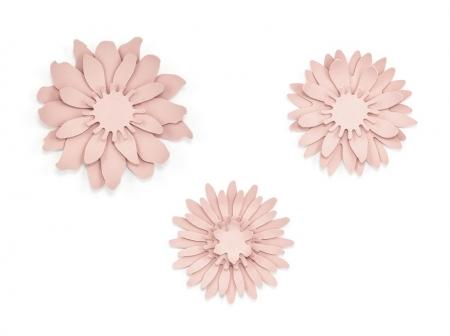 Set nuferi de hartie roz pudra (3buc nuferi/set)2