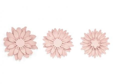 Set nuferi de hartie roz pudra (3buc nuferi/set)0