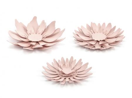 Set nuferi de hartie roz pudra (3buc nuferi/set)1