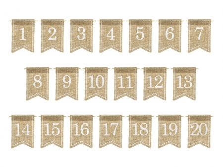 Numere de masa din panza, 7x10.5cm (1 pach / 20 buc.)2