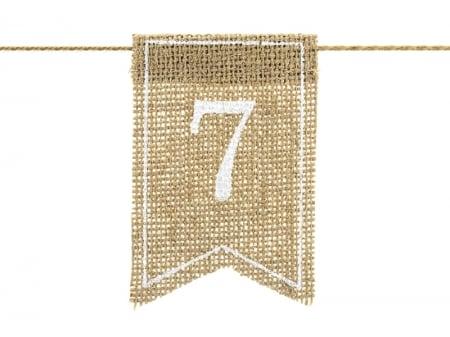 Numere de masa din panza, 7x10.5cm (1 pach / 20 buc.)3