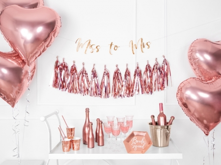 Pahare de hartie She said yes! rose gold, 220ml (1 pach/ 6 buc.)4