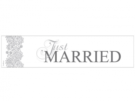 Placuta inmatriculare, Just Married, 50 x 11.5cm [1]