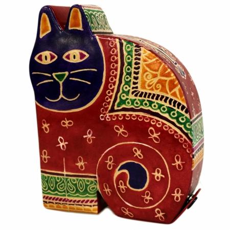 Pusculita in forma de Pisica (piele imprimata)0