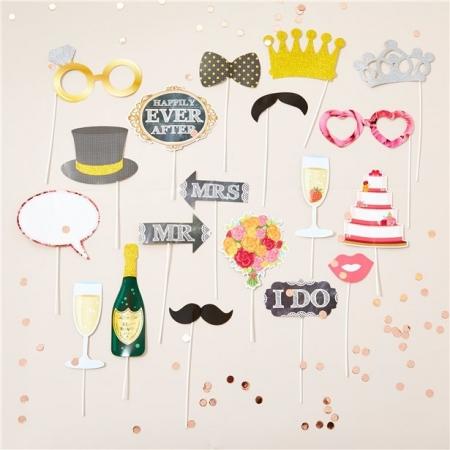 Recuzita fotografii nunta (20 piese colorate)1