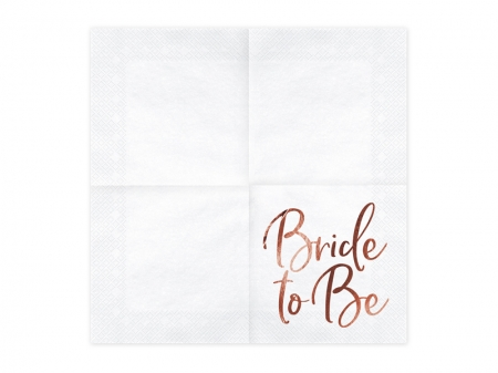 Servetele Bride to be, rose gold, 33x33cm (1 pach / 20 buc.)4