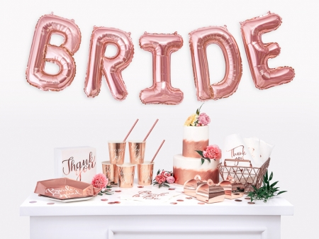 Servetele Bride to be, rose gold, 33x33cm (1 pach / 20 buc.)3