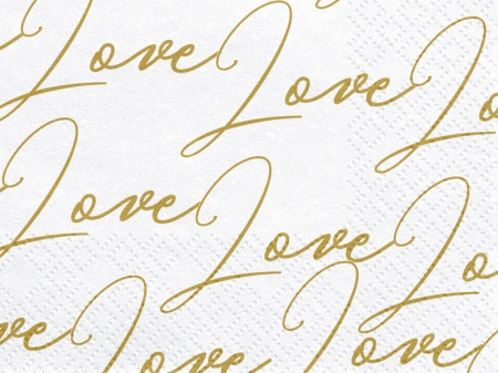Set Servetele imprimate Love, 33x33cm (1 pach / 20 buc)0
