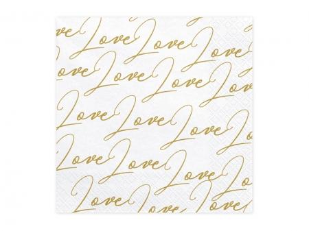 Set Servetele imprimate Love, 33x33cm (1 pach / 20 buc)3