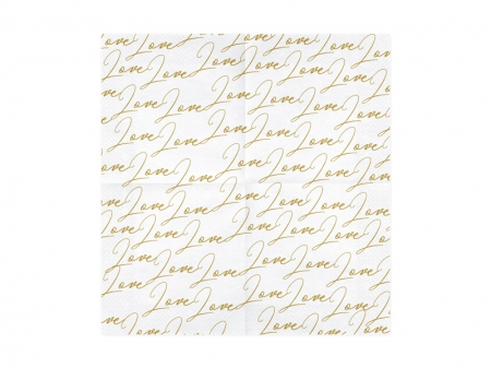 Set Servetele imprimate Love, 33x33cm (1 pach / 20 buc)5