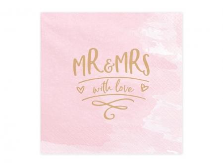 Servetele Mr & Mrs, 33x33cm (1 pach / 20 pc.)2