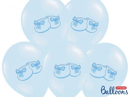 Set 10 Baloane botez baieti 30cm, Bootee [0]
