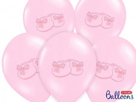 Set 10 baloane botez fetite, 30cm, Bootee [0]