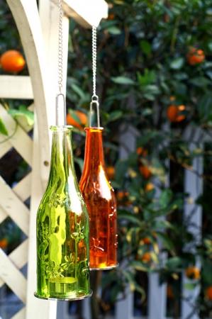 Sticla felinar ambiental, culoare Rubin1