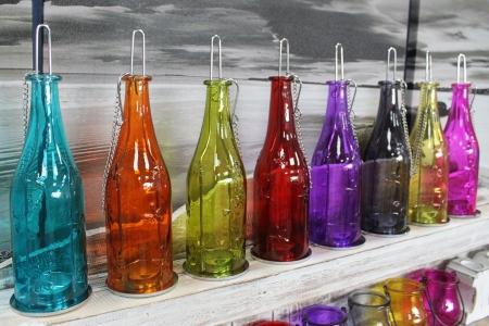 Sticla felinar ambiental, culoare Rubin2