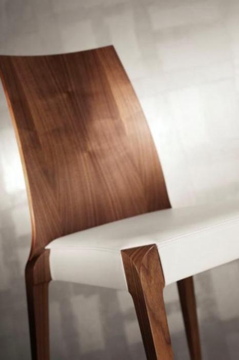 Scaun lemn de stejar cu sezut tapitat Sendy 152 SE Rovere 1