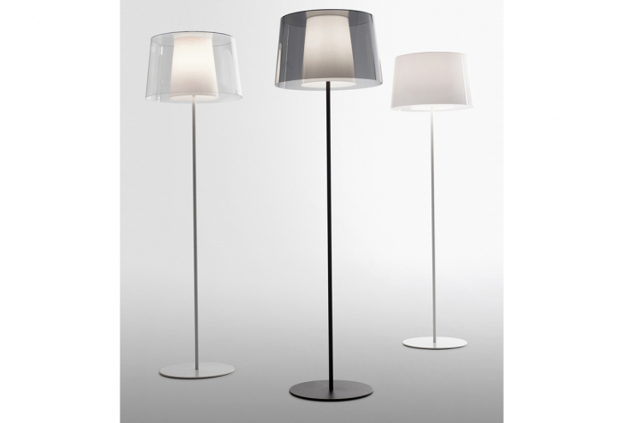 Lampa de podea cu abajur din policarbonat L001ST/BA [0]