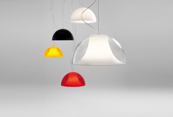 Lampa suspendata cu abajur din policarbonat L002S/BA 1