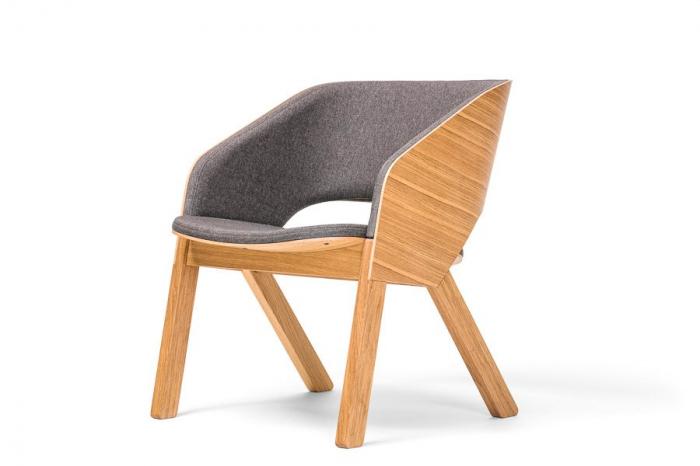 Fotolii lounge din lemn tapitate MERANO [0]