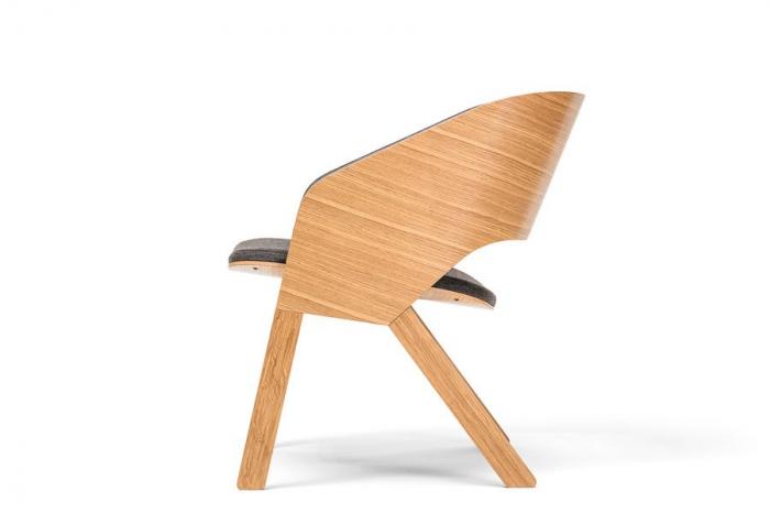 Fotolii lounge din lemn tapitate MERANO [2]