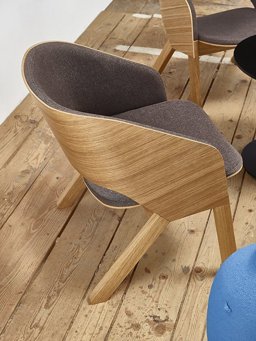 Fotolii lounge din lemn tapitate MERANO [6]