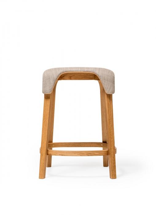 Scaune de bar structura lemn tapitate LEAF 1