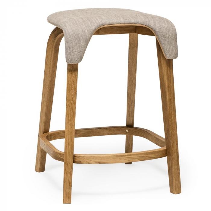 Scaune de bar structura lemn tapitate LEAF 0