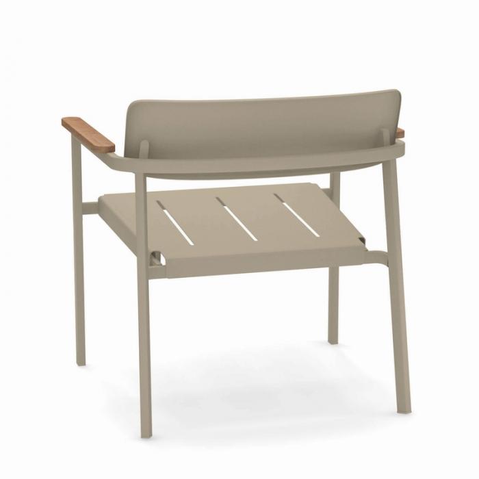 Fotolii lounge exterior metalice cu insertii lemn SHINE 2