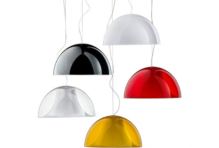 Lampa suspendata cu abajur din policarbonat L002S/BA 0