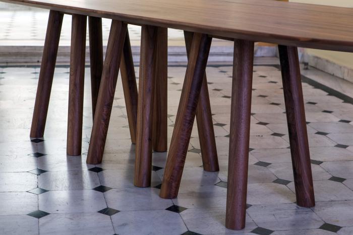 Mese lemn baza cu 12 picioare MOS-I-KO 001 F 1