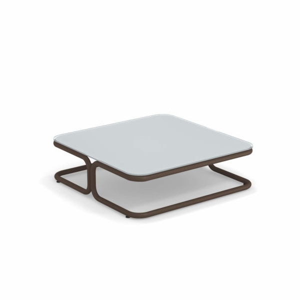Mese cafea exterior structura metalica blat sticla MARCEL 0