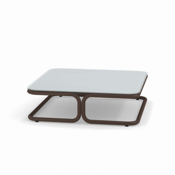 Mese cafea exterior structura metalica blat sticla MARCEL 3